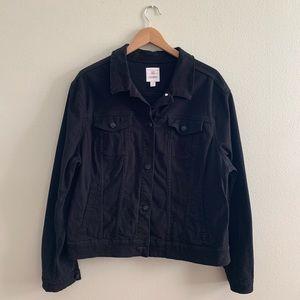 Lularoe Black Harvey Denim Jacket, Size 3XL, EUC